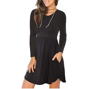 Dresses & Skirts - [NEW] Black Swing Dress with Pockets